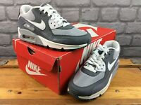 NIKE UK 3 EU 35.5 AIR MAX 90 ESSENTIAL WHITE GREY TRAINERS RRP £100 CHILDRENS C