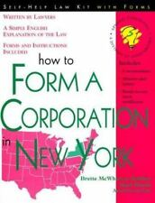 How to Form a Corporation in New York (Self-Help Law Kit with Forms)-ExLibrary