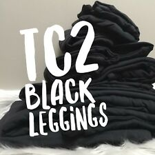 NWT Lularoe SOLID BLACK Leggings TC2 Tall Curvy 2 UNICORN Noir