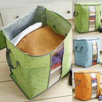 Foldable Storage Bag Clothes Blanket Quilt Closet Sweater Organizer Box Pouch