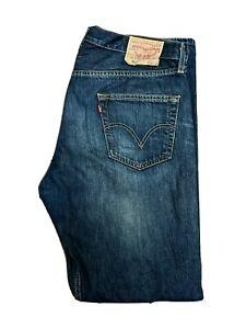 Original Levi's 501® Classic Straight Leg Stonewashed Denim Jeans W36 L32 ES8283