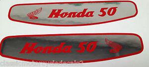 HONDA C50 STEP THROUGH SCOOTER PLAG PETROL TANK DECALS 2
