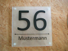 house number sign approx. 240 x 324 x 8mm Acrylic Desired Text New