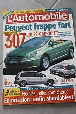 L'automobile - N°665 OCT 2001 307 coupé cabriolet 307 break 206 CC 206 break