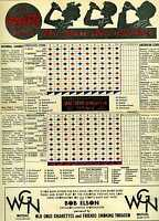 1932 baseball scorecard Chicago Cubs Philadelphia Phillies, Bit O Honey ad