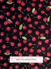 Fresh Picked Cherries Red Cherry Fruit Toss Kitchen Food VIP Cotton Fabric YARD