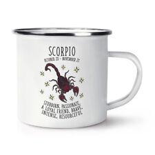 Scorpio Horoscope Retro Enamel Mug Cup - Horoscope Star Sign Astrology Zodiac