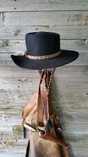 This is a Johnny Ringo Tombstone Cowboy Hat Handmade Replica Black Fur Felt
