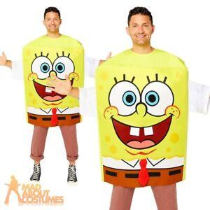 Adult SpongeBob SquarePants Tabard Costume Book Week Day Fancy Dress Outfit