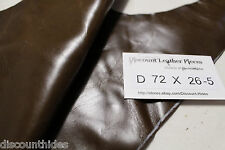 Sm leather piece: Olive Brown. Smooth grain, med sheen. Appx 1 sqft. D72X26-5