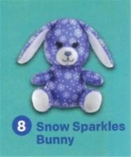 "Build a Bear 4"" Snow Sparkles Bunny McDonald's 2015 #8 Happy Meal Toy NEW"