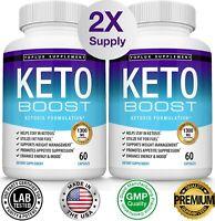 Keto BOOST CUTS Diet Pills 2 BOTTLES Best Weight Loss Supplements Fat Burn& Carb