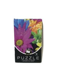 """500 Piece Color Puzzle Cardinal Flowers New Sealed 14"""" x 11"""" O"""
