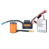 For 1/10 RC Car Waterproof 3650 4300KV Brushless Motor 60A ESC Program Card Set