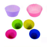 12 Pieces Silicone Reusable Cake Muffin Cupcake Liner Kitchen Cooking Baking