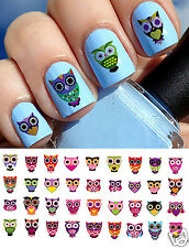 Sugar Skull Style Owl Nail Art Waterslide Decals #1 -  Salon Quality!