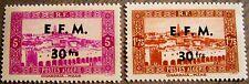 Algeria EFM Overprint Issues of 1943 Complete Set of 2 MNH Scott's 82 & 100