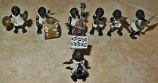 19th C Austrian Cold Painted Bronze Miniature Black Americana Music Band Rare