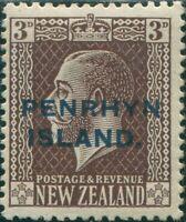 Cook Islands Penrhyn 1917 SG25 3d chocolate KGV MH