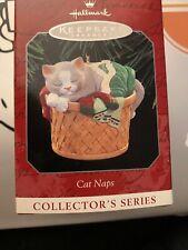 Hallmark Keepsake Ornament 1998 Cat Naps Collector's Series #5 Laundry Basket