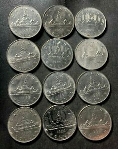 Old Canada Coin Lot - DOLLAR - 12 HIGH GRADE Dollars - Lot #S15