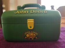 JOHN DEERE ERTL KIDS TOYS CARRY CASE LUNCH TOOL TACKLE BOX RUBBER