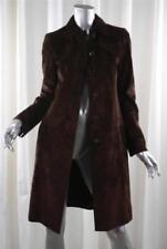 Manteaux et vestes marrons en cuir pour femme