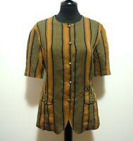 ICEBERG Camicia Donna Lino Viscosa Rayon Flax Woman Shirt Sz.S - 42
