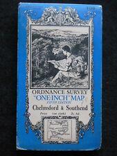 Vintage Ordnance Survey Folding Map - Chelmsford & Southend - 1938 - Essex 108