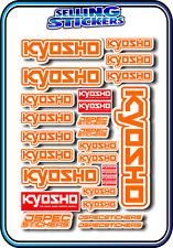 KYOSHO MODEL RC CAR DRONE BOAT BUGGY MINI Z STICKERS DECALS ROBOT R/C ORANGE W