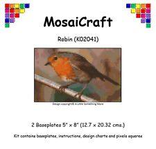 """Mosaicraft Pixel Craft Art Mosaïque Kit """"Robin"""" pixelhobby"""