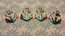 Edible Cake/Cupcake Decorations - 12 Anchors, Nautical - Sugarpaste Toppers