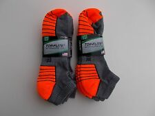 Top Flite Made In USA Mens Low Cut Sport Socks Size 9-13 Six Pairs