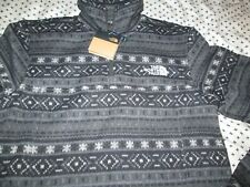 NEW Mens The North Face LEO 1/4 Zip Sweater SNOWFLAKE Blk/Gray XL FREE SHIP
