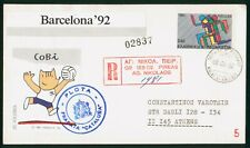 Mayfairstamps Greece 1992 Barcelona Olympics Registered to Athens Cover wwp889