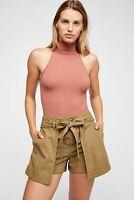 New Free People Womens Seamless Turtleneck Sleeveless My Way Bodysuit Xs-L $40