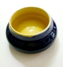 Ceramic Yellow & Blue Glazed Trinket Pot