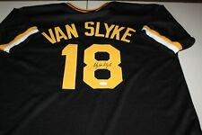 PITTSBURGH PIRATES ANDY VAN SLYKE #18 SIGNED AUTO CUSTOM BLACK JERSEY JSA CERT