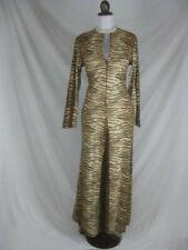 Vtg 60s 70s Windsor Womens Vintage Tiger Print Hostess Pants Suit Lounge Dress