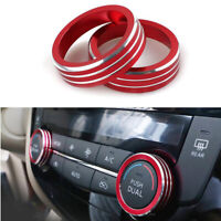 2pcs Car AC Climate Control Knob Ring Covers For Nissan Rogue X-Trail 2014-18 US