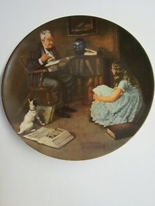 Edwin M. Knowles Norman Rockwell Decorative Plate The Storyteller W COA