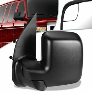 Fit 10-14 Ford E150 E250 Econoline OE Style Manual Door Mirror Left FO1320395