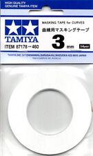 TAMIYA Masking Tape for Curves 2mm 3mm 5mm 12mm - 20m roll - Choose