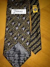 VERSACE SILK ITALY dark MEN'S TIE.