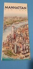 1990 UNIQUE MEDIA MANHATTAN NEW YORK FOLDING ILLUSTRATED MAP