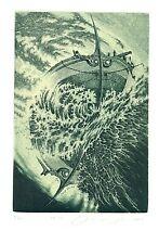 Exlibris Etching  2x Bookmark:  Jakovenko
