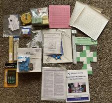 Huge Right Start Math Manipulative Set Add Ons Geoboards, Abacus Tiles, Decks