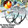 4x Motorrad Motorrad LED Blinker Bullet Chrom 12V Für Harley Chopper Cruiser