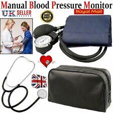 Nylon Cuff Blood Pressure Monitor Aneroid Sphygmomanometer & Stethoscope BP KIT