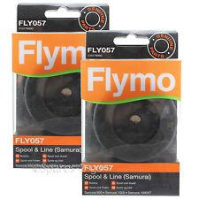 2 x FLYMO Strimmer Spool & Line Garden Trimmer Samurai 800 1000 1000XT FLY057